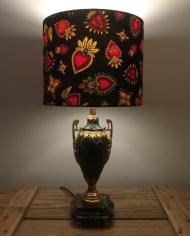 Hearts Desire vintage lamp and handmade shade